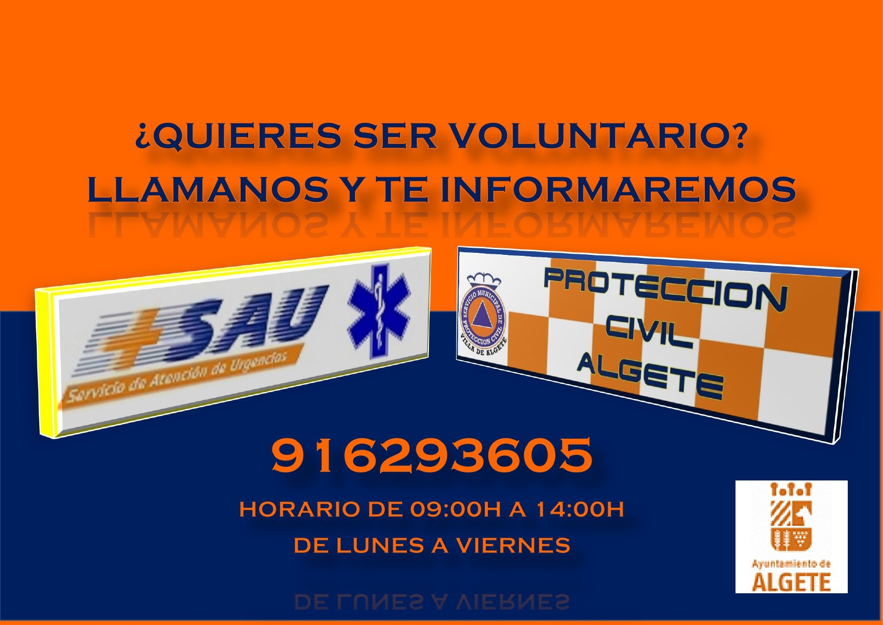voluntario protección civil algete